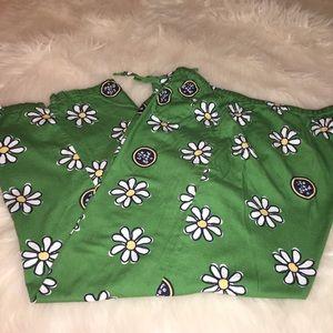 LIFE IS GOOD Sz L Green Pajama Capri's